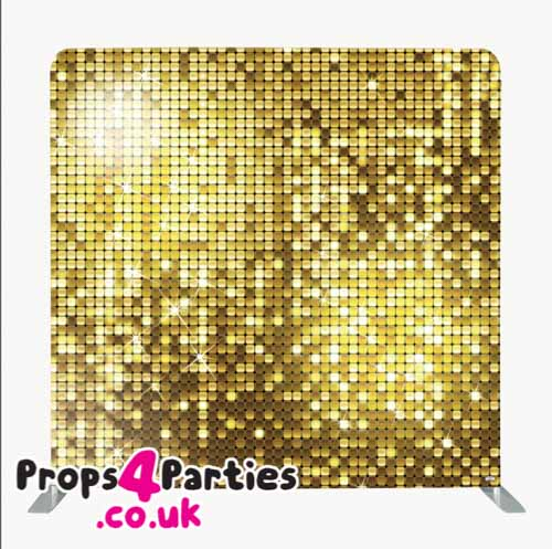 Large gold photo backdrop