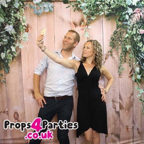 Flower photo backdrop hire