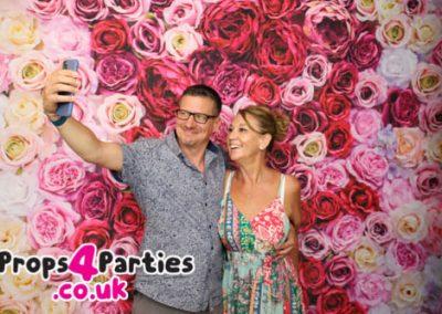 Flower Selfie Wall hire