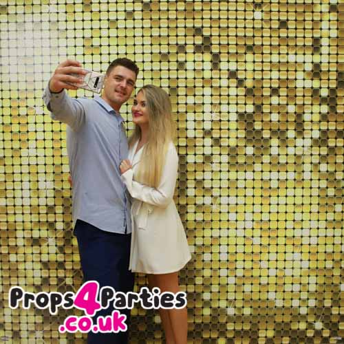 Glitter backdrop hire