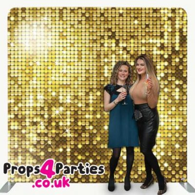 Golden Glitter Wall Hire