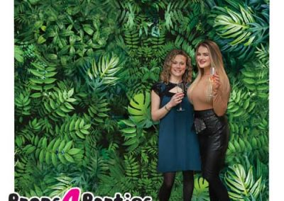 Jungle Leaf Flower Wall Hire