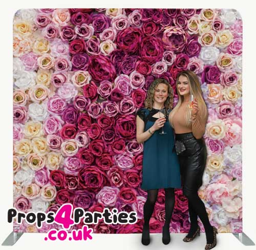 Mixed Pink Flower Wall Hire