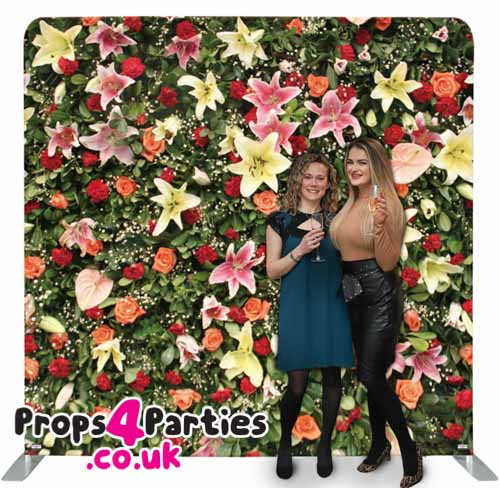 Tropical Flower Wall Hire
